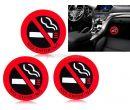 Силиконовый стикер No Smoking для автомобиля (3 шт.)