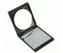 Складное зеркало с двойным увеличительным стеклом для макияжа