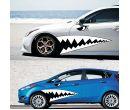 Автомобильная наклейка «Акулий рот» (2 х 1,3 м)