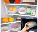 Силиконовая стрейч-крышка для посуды (4 шт.)