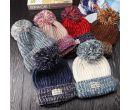 Вязанные теплые шерстяные женские шапки