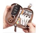 Стильный кожаный клатч-портмоне с отделом для автоключа