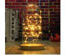 Стеклянный настольный светильник Wood Glass