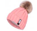 Вязаная зимняя женская шапка с помпоном