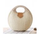 Плетеная круглая сумка с врезной ручкой