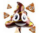 Надувное украшение из фольги Emoji Smiley Poop (45x50 см)
