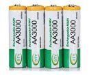Набор аккумуляторных АА батареек 3000mAh