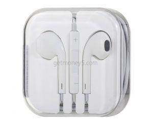 Наушники-вкладыши с микрофоном для Apple iPhone
