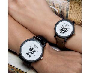 Модные кварцевые наручные часы King & Queen