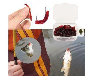 Силиконовые дождевые червячки для рыбалки (15 шт.)