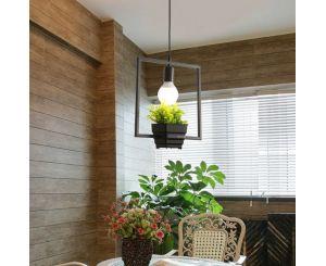Подвесной светильник E27 с цветочным горшком