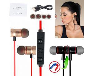Спортивные беспроводные Bluetooth наушники с магнитным креплением