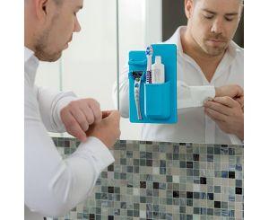 Силиконовый держатель для пасты и зубной щетки