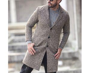 Мужское пальто средней длины