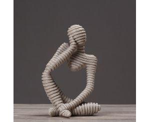 Модельная фигура статуя мыслитель «Европейский стиль»