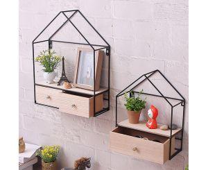 Настенная полочка с ящиками в форме домика