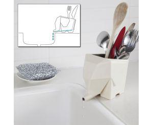 Сушилка органайзер для столовых приборов слоник