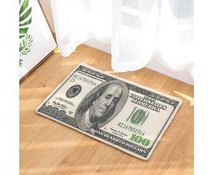 Входной коврик с реалистичным 3D изображением 100 долларов