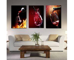 Декоративная ручная масляная композиция холст с красным вином