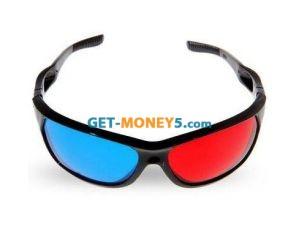 Анаглифические очки для просмотра 3D видео