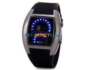 Бинарные светодиодные часы спидометр
