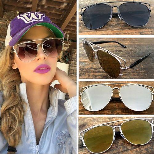 0f3b385de111 Женские зеркальные солнцезащитные очки с металлическим каркасом