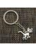 Металлический брелок для ключей кот